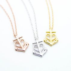 Anchor heart necklace – Imsmistyle.