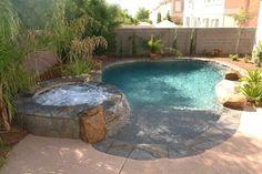 Small Backyard Design, Small Backyard Pools, Backyard Pool Landscaping, Backyard Pool Designs, Backyard Ideas, Garden Ideas, Garden Design, Landscaping Ideas, Pool Fence