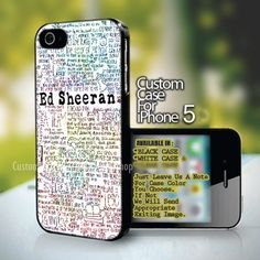 Colorful Ed Sheeran Poster iPhone 5,5s,5c (Leave a Note)