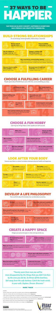 37 consejos para ser más feliz en una genial infografía