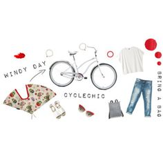 Windy day cyclechic - bring a bag