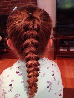 Double strand pull thru braid