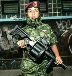 Female Soldier, Army, Military, Paratrooper, Guns, Beauty, Army Girls, Mexican Army, Military Women