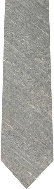 Medium Charcoal Gray Thai Rough Silk Tie #2