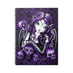 Notebook Creepy Dolls Beautiful Composition Book for Gothic Film Fans