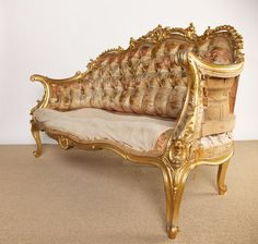 19th Century French Rococo Style Louis XV Settee image 3