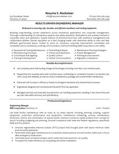 manufacturing engineer sample resumes