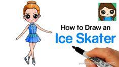 Human Figure Drawing Reference How to Draw an Ice Skater Kawaii Girl Drawings, Cute Girl Drawing, Cartoon Girl Drawing, Cute Drawings, Male Figure Drawing, Figure Drawing Reference, Anatomy Reference, Easy Drawings For Kids, Drawing For Kids