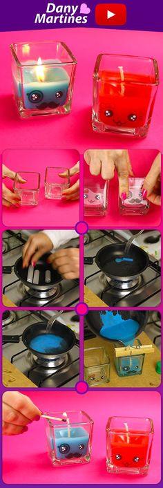 Faça Você mesmo velas fofinhas e cheirosas pra decorar e aromatizar o ambiente, DIY, Do It Your Self, Kawaii