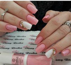 french nails ballerina Tips Gel Uv Nails, Glitter Toe Nails, Manicure And Pedicure, Pink Nails, My Nails, Acrylic Nails, Nail Art Designs Videos, Nail Designs, Cute Nails