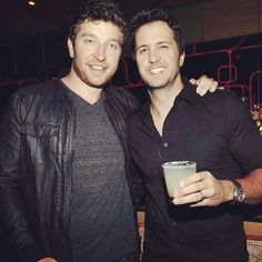 brett eldredge and luke bryan perfection in one pic