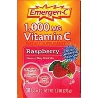 """EMERGEN-C RASPBERRY    The powerful blend of vitamin C, 24 nutrients, 7 B vitamins, antioxidants, and electrolytes supports your immune system, increases your metabolic function, and enhances your energy """"level"""" to help you really feel good."""