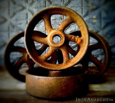 Antique industrial casters on IronAnarchy.com