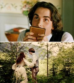 """Winona Ryder (Jo March) & Christian Bale (Theodore """"Laurie"""" Laurence) - Little Women directed by Gillian Armstrong (1994) #louisamayalcott"""
