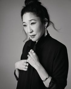 Sandra Oh ( once had a meeting with an agent who told her that she wasn't a leading lady; she wasn't pretty enough and… Sandra Oh, Grey's Anatomy, How Beautiful, Beautiful People, Michelle Monaghan, Jodie Comer, Portraits, Badass Women, Female Images