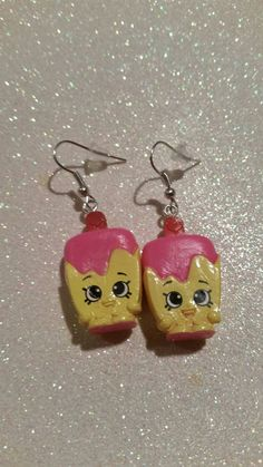 SHOPKINS Earrings Popsicle  The Newest and Coolest thing around..... SHOPKINS!! who doesnt love these cute little shopkin characters!?