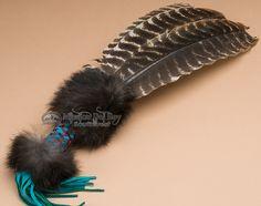 Mission Del Rey Southwest - Native American Cherokee Beaded Prayer Fan  (http://www.missiondelrey.com/native-american-cherokee-beaded-prayer-fan-f1/)