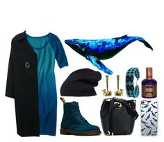 """""""Spirit Animals (Whale)"""" by ubiquitous-merkaba ❤ liked on Polyvore featuring Halogen, Krimson Klover, Rejina Pyo, Dr. Martens, Casetify, Michael Kors, House of Matriarch, Child Of Wild and sososspirits"""