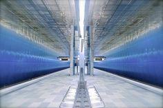 U-Bahn Überseequartier station, Hamburg, Germany