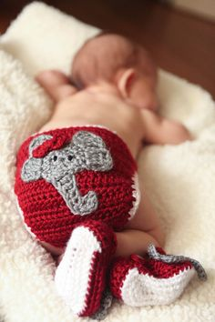 Alabama Crimson Tide Diaper Cover Baby Infant by TheGrapeTurtle, $25.00