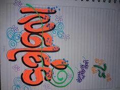 Decorate Notebook, My Notebook, Notebooks, Neon Signs, Lettering, Decorated Notebooks, Bracelets, Bracelet, Notebook