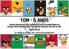 Convite Angry Birds  :: flavoli.net - Papelaria Personalizada :: Contato: (21) 98-836-0113 vendas@flavoli.net Festa Angry Birds, 98, Comics, Personalized Stationery, Ticket Invitation, Cartoons, Comic, Comics And Cartoons, Comic Books