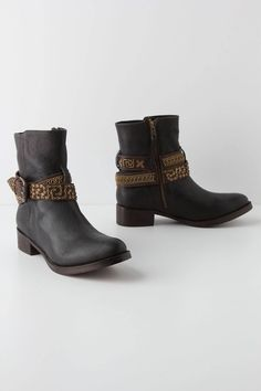 """- Fits true to size - Side zip - Leather upper, insole, sole - 1.5"""" leather wrapped heel - 6""""H - Imported"""