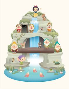 Snow White and the Seven Dwarfs Kawaii Disney, Baby Disney, Disney Trips, Disney Love, Disney Parks, Disney Pixar, Princess Disney, Arte Disney, Disney Magic