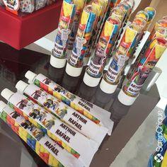 Festa Lego - bisnagas para brigadeiro. #scrapchique #lego #festalego #festameninos #brigadeiro