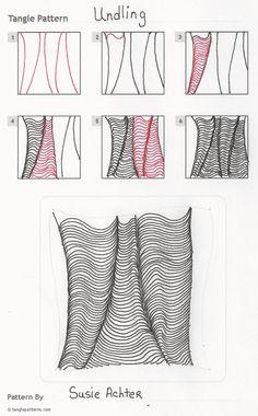 Tangle pattern: Undling.