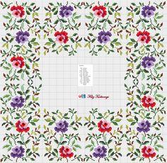 Bahçedeyiz ya, belki çiçekli örtülere de gereksinimiz olabilir ne dersiniz ? Haydi bakalım o zaman :) Designed by Filiz Türkocağı...