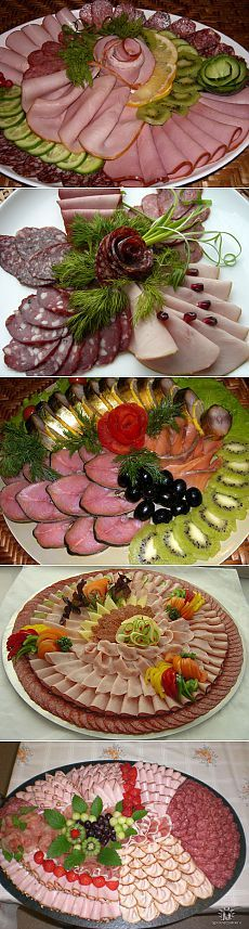 Нарезка на праздничный стол Plateau Charcuterie, Meat Fruit, Appetizer Sandwiches, Meat Platter, Party Trays, Catering Food, Finger Food Appetizers, Food Decoration, Food Platters