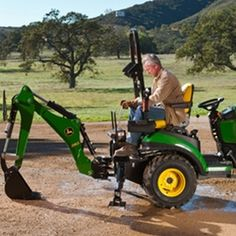 John Deere 260 Backhoe Attachment for sale at Mutton Power Equipment - Your online home for John Deere Tractor Attachments Riding Lawn Mower Attachments, Tractor Attachments, Tractor Seats, Tractor Loader, Sub Compact Tractors, Pine City, Tractor Accessories, Cowboy Action Shooting, Riding Lawn Mowers