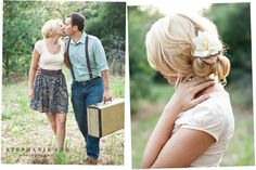 Love the vintage hair accessories, flowers or headbands are great for the vintage look