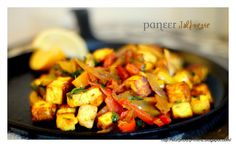 Paneer (Cottage Cheese) Jalfrezie is an Indian version of a stir fry