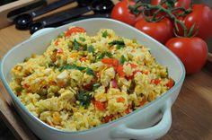 Risotto z kurczakiem curry Italian Foods, Italian Recipes, Pasta Salad, Risotto, Ethnic Recipes, Crab Pasta Salad