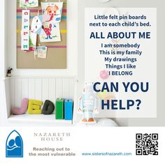 SPECIAL REQUEST FOR THE CHILDREN... We would LOVE to be able to put a little felt pin board next to each child's bed. The pin board would be used for the childrent to stick their pictures of the family on, their art work from school and small mementos. Its imporant for them to have something that belongs to them. And they all miss their families terribly, so when they visit, we take pictures of the chidlren with their parents