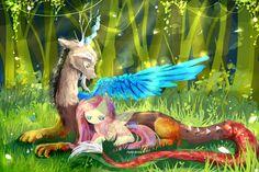 MLP : Discord and Fluttershy by AquaGalaxy.deviantart.com on @deviantART