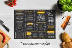 Food Menu Template, Restaurant Menu Template, Restaurant Flyer, Restaurant Menu Design, Restaurant Recipes, Menu Templates, Printable Menu, Restaurant Website, Design Templates
