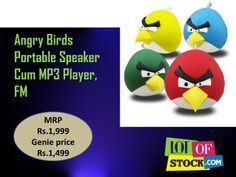 """Angry Birds Portable Speaker Cum MP3 Player,FM """"http://goo.gl/OoIR3T""""... For every sign up receive Rs.5000 worth Genie Coupons only from """"http://goo.gl/mrqjDj""""..."""