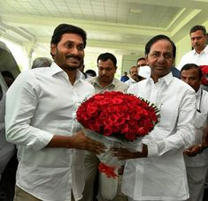 Hyderabad: The Andhra Pradesh Chief Minister Y S Jagan Mohan Reddy and his Telangana counterpart K Chandrasekhar Rao meet at Pragathi Bhavan to discuss various issues pertaining river waters. Star Images, Political Leaders, Hyderabad, Photo Galleries, Meet