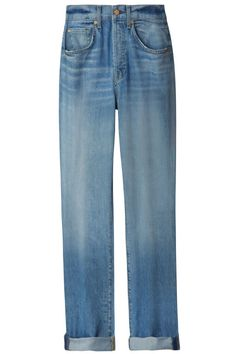 """Jean Type: """"7 for All Mankind boyfriend cut."""" 7 for All Mankind jeans, $215, 7forallmankind.com."""