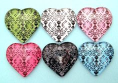Your place to buy and sell all things handmade Glass Magnets, Neodymium Magnets, Damask, Heart Shapes, Clothespins, Crystals, Hearts, Color, Etsy