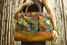 The Quetzal Messenger/Laptop Bag  Unique embroidery and patterns!   - Mayan - Tribal - Hipster -   Handmade in Guatemala!