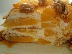 Tort de clatite cu portocale si sirop caramel, Rețetă Petitchef