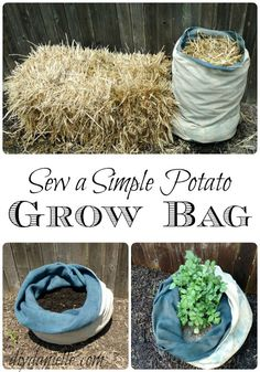 Grow bags are a great way to get an easy potato harvest- and they're easy to sew!