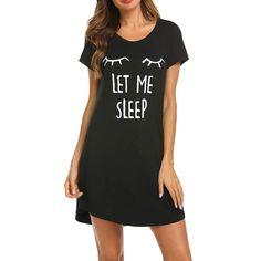 Dress T Shirt Dress Women's Ladies Short Sleeve Casual Cartoon Print Comfy Nightgown Sleep Dress Streetwear Sukienka Casual Summer Dresses, Summer Dresses For Women, Simple Dresses, Short Sleeve Dresses, Sleep Dress, Sleep Shirt, Dress Shirts For Women, Sleepwear Women, Jumpsuits For Women