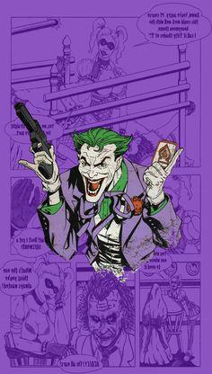 Trendy Ideas For Wallpaper Masculino Fodase Arte Dc Comics, Marvel Comics, Joker Dc Comics, Joker Comic, Comic Books Art, Comic Art, Hahaha Joker, Disney Tapete, Joker Wallpapers