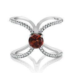 A Timeless Treasure and Style Classic our rings are always fit for any occasion. Beautifully crafted and designed our Garnet and Zirconia ring is sure to win your way into her heart. This ring crafte...
