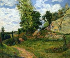 Quarries at Pontoise, 1882 by Paul Gauguin, Early works. Impressionism. landscape. Private Collection